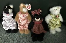 Boyds Bears Plush Lot of 4 assorted Plush Cats Adorable Easter gifts Very Nice