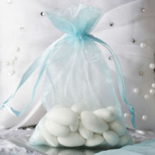 "4x6"" Light Blue ORGANZA FAVOR BAGS Wedding Party Reception Gift Favors- 100pcs"
