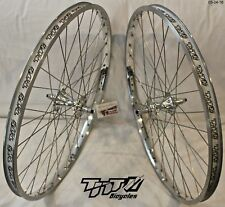 BMX CRUISER WHEEL SET, TNT BICYCLES, SUN RHYNO LITE, SILVER CHROME, NEW 26 inch