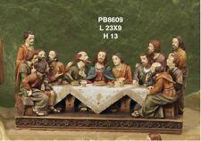 Gesù Ultima Cena 3D cenacolo Presepe Pasquale resina 23 cm by Paben