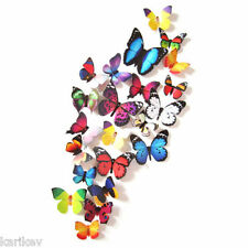 12 Pcs Art Decal Home Decor Room Wall Stickers 3D Butterfly Stickers Decoration