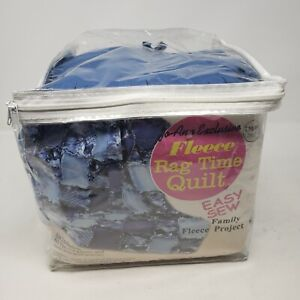 Fleece Rag Time Quilt Easy Sew Horses Blanket Blue 51x65 JoAnn Fabrics Exclusive