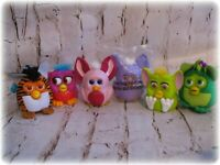 Furby McDonald Happy Meal Burger King Furbies Backpack Clip Ons Movable Figures