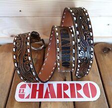 EL CHARRO Cintura Pelle (4.5x130) con Borchie e Fibbia intercambiabile PANINARO