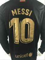 Messi #10 Barcelona FC 2020/2021 Away Football Jersey Mens Soccer Shirt