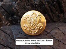 Old Rare Vintage Antique War Relic Massachusetts State Coat Button