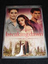 TWILIGHT SAGA BREAKING DAWN PART I DVD (LIKE NEW)
