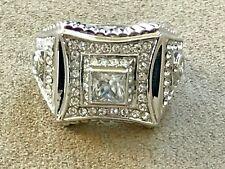 QVC Rhodium plated Hallmarked DP CZ ring size 10