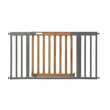 Summer Infant West End Safety Gate Honey Oak Stained Wood Slate Metal - GallyHo