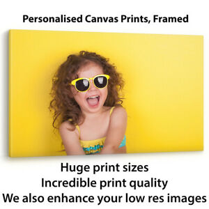 CANVAS PRINT YOUR PHOTO PERSONALISED PICTURE A0 A2 A3 FRAMED CUSTOM IMAGE PRINTS