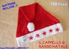 100 CAPPELLO BABBO NATALE TRADIZIONALE Panno Lenci STOCK FESTA PARTY ANIMAZIONE