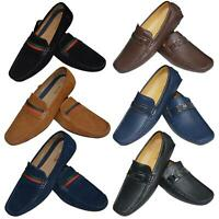 Mens Slip Ons Shoes Boat Deck Driving Smart Buckle Moccasins Suede Look Loafers
