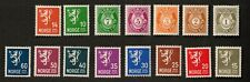 Norway 1937 Sc# 162-176, Lot of 15 Stamps