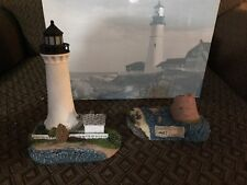 Harbour Lights Collectable Light House Round Island, Mississippi (then and now)