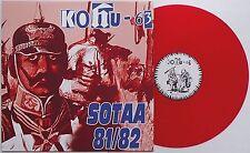 Kohu-63 - Sotaa 81/82 LP RED VINYL Terveet Kadet Kaaos