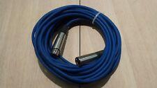 XLR - Profi DJ  Mikrofon Kabel 10m Mikro Cable XLR -  Blau