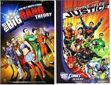 DC Comics JUSTICE LEAGUE & BIG BANG THEORY 2-sided Promo Comic Board VF+/better