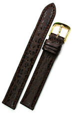Germany Graf Watch Strap Brown 14mm Real Shark leather Band made