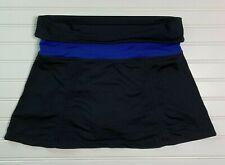 New listing Lucy Tech Size M Skort Skirt Tennis Golf Running Yoga Fold Over Waist Black Blue