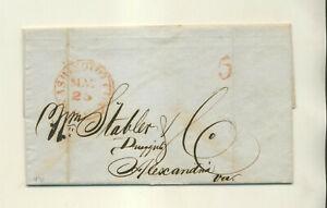 1847 J D GILMAN WASHINGTON (DC) TO WILLIAM STABLER ALEXANDRIA VA  STMPLS LTR