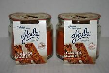2 GLADE  SCENTED JAR CANDLES 4oz each CARROT CAKE - Hard to Find