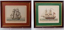 Pair 18th Century Norwegian Nautical Maritime Ship Prints