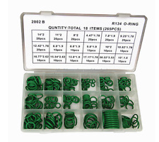 R12/134a Car Air Conditioning A/C O-Ring Assortment Kit 265Pcs