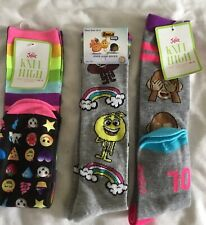 NWT Justice Girls Christmas Novelty Ankle Socks 6 Pair Set U Pick 13-5 5-9 NEW