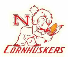 University of Nebraska CORNHUSKERS Football Vintage Looking Travel Decal Sticker