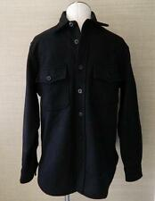 JCrew $158 Men's Wallace and Barnes & CPO Wool Jacket Black S Shirt 03067