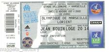 Billet  / Place  OM Olympique de Marseille - OM sv FC Lorient  ( 087 )