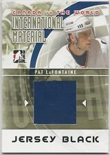 Pat LaFontaine 2011-12 ITG Canada vs The World International Material Black Jrsy