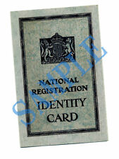 Ww2 National Registration Identity Card - 1943 to 1950