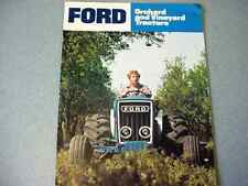 Ford 3600, 4600, 6600 Orchard & Vineyard Farm Tractor brochure              lw