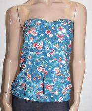 CROSSROADS Designer Blue Floral Tie Dye Bustier Top Size XL BNWT #TA94