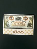 Brazil Scott #1484 MNH 30,000 Reis Banknote Bank of Brazil