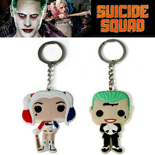Couple Suicide Squad Harley Quinn Joker Keychain Key Ring Cosplay Collection Hot