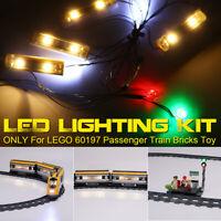 ONLY LED Light Lighting Kit For LEGO 60197 Passenger Train Building Block Bricks