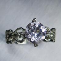 1.5ct Natural Light Pink Morganite 925 silver /9ct 14k 18k Gold Platinum ring