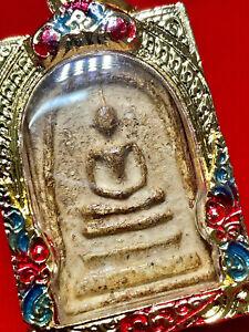 Phra Somdej Pim Yai LP Toh Wat Rakang Gold Casing Thai Amulet Necklace K701