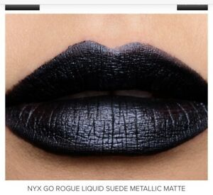 NYX Professional Makeup Black Matte Liquid Suede Cream Lipstick GO ROGUE LSCL40