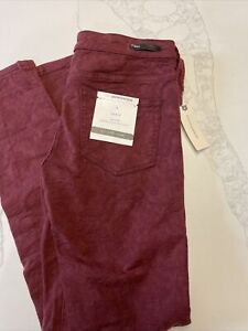 Anthropologie Pilco Stretch Fit Legging 26 Cranberry Textured