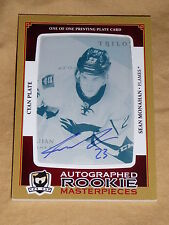13-14 The Cup Sean Monahan Auto Cyan Printing Plate RC 1/1 Autograph Rookie