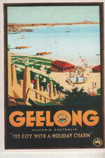 Postcard Geelong City with Holiday Charm NEW unused 50s style Victoria Australia