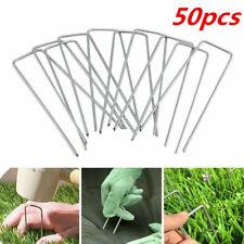 50x Weed Control Fabric Pegs Metal U Pins Galvanised Steel Securing Membrane UK