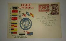Malaysia Malaya States Flags 1958 14th session Ecafe Conference 2v Stamp FDC