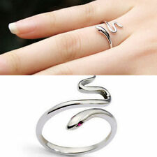 Fashion Silver Opening Adjustable Cute Snake Finger Ring Women's Party Jewelry