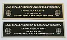 Alexander Gustafsson UFC nameplate for signed mma gloves photo or case