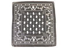 LAGERFELD Tuch Schal - schwarz weiß - 45 x 45 cm - 100% Seide - neu