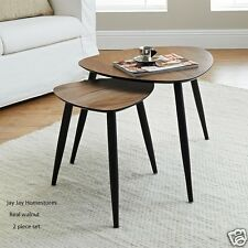 Calvin Nest of Tables 2pc Real walnut